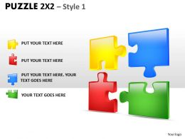 Puzzle 2x2 Style 1 PPT 2