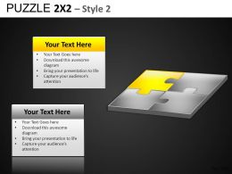Puzzle 2x2 Style 2 Powerpoint Presentation Slides DB