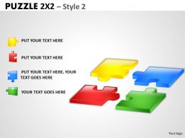 Puzzle 2x2 Style 2 PPT 2