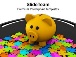 Puzzle And Piggy Bank Business Solution Powerpoint Templates Ppt Themes And Graphics 0213