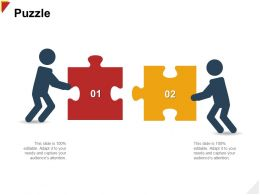 Puzzle Attention H107 Ppt Powerpoint Presentation File Infographic Template