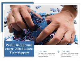 Puzzle Background Image With Business Team Support