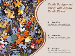 Puzzle Background Image With Jigsaw Puzzle Pieces