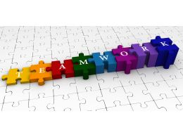 puzzle_bar_graph_with_word_teamwork_graphic_stock_photo_Slide01