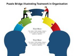 Puzzle Bridge Illustrating Teamwork In Organisation