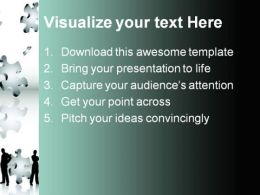 Puzzle Business PowerPoint Template 0910  Presentation Themes and Graphics Slide02