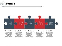 Puzzle Business Solution K151 Powerpoint Presentation Gallery Image