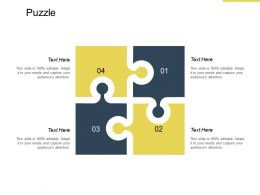Puzzle Business Solution K188 Ppt Powerpoint Presentation File