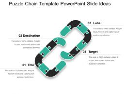 Puzzle Chain Template Powerpoint Slide Ideas
