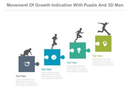 Puzzle Chart For Growth Indication And Success Powerpoint Slides