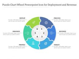 Puzzle Chart Wheel Powerpoint Icon For Deployment And Revenue