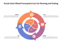 Puzzle Chart Wheel Powerpoint Icon For Planning And Testing