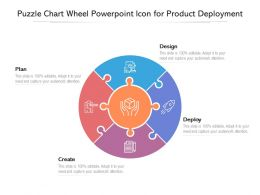 Puzzle Chart Wheel Powerpoint Icon For Product Deployment