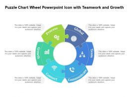 Puzzle Chart Wheel Powerpoint Icon With Teamwork And Growth