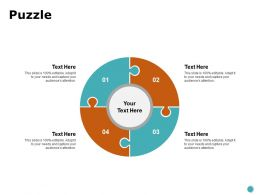 Puzzle Circular Process Ppt Powerpoint Presentation Show Deck