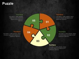 Puzzle Cost Optimization Strategies Ppt Summary Templates