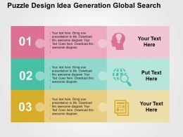 Puzzle Design Idea Generation Global Search Flat Powerpoint Design