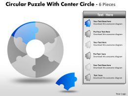 Puzzle diagram PPT 18