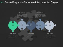 Puzzle Diagram To Showcase Interconnected Stages Ppt Sample