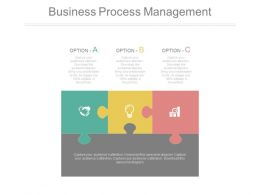 Puzzle For Business Process Management Powerpoint Slides