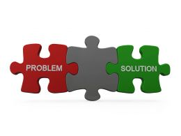 Puzzle For Problem And Solution Stock Photo