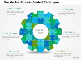 Puzzle For Process Control Technique Flat Powerpoint Design