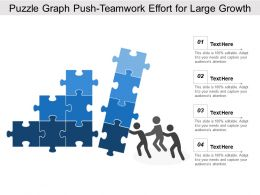 puzzle_graph_push_teamwork_effort_for_large_growth_Slide01