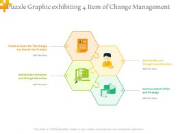 Puzzle Graphic Exhibiting 4 Item Of Change Management