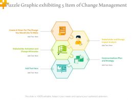 Puzzle Graphic Exhibiting 5 Item Of Change Management
