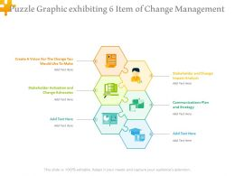 Puzzle Graphic Exhibiting 6 Item Of Change Management