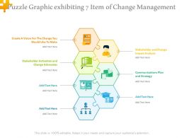 Puzzle Graphic Exhibiting 7 Item Of Change Management