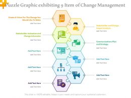 Puzzle Graphic Exhibiting 9 Item Of Change Management
