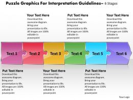 puzzle_graphics_for_interpretation_guidelines_6_stages_flow_chart_business_powerpoint_templates_Slide01