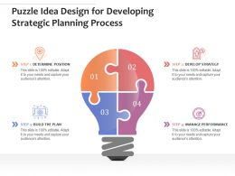 Puzzle Idea Design For Developing Strategic Planning Process