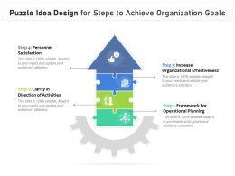 Puzzle Idea Design For Steps To Achieve Organization Goals