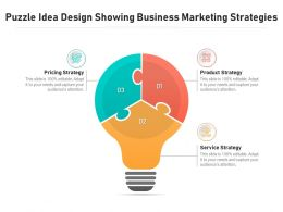 Puzzle Idea Design Showing Business Marketing Strategies
