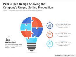 Puzzle Idea Design Showing The Company Unique Selling Proposition
