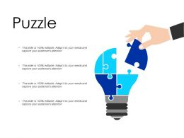 Puzzle Idea Strategy Ppt Powerpoint Presentation Pictures Design Templates