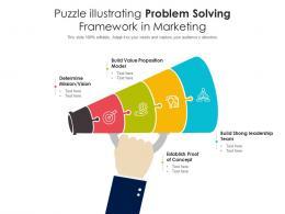 Puzzle Illustrating Problem Solving Framework In Marketing