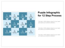 Puzzle Infographic For 12 Step Process