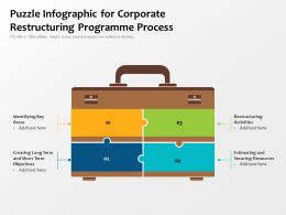 Puzzle Infographic For Corporate Restructuring Programme Process