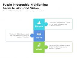 Puzzle Infographic Highlighting Team Mission And Vision