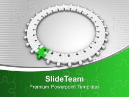 Puzzle Jigsaw Making Ring Teamwork Powerpoint Templates Ppt Themes And Graphics 0213