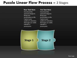 puzzle linear flow process 2 stages 48
