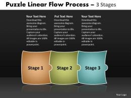 Puzzle Linear Flow Process 3 Stages 64