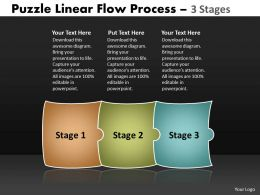 Puzzle Linear Flow Process 3 Stages