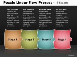 Puzzle Linear Flow Process 4 Stages 95