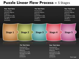 Puzzle Linear Flow Process 5 Stages 91