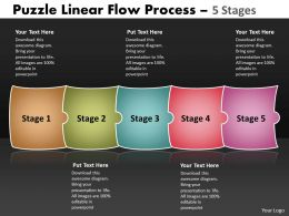Puzzle Linear Flow Process 5 Stages