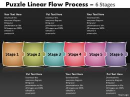 Puzzle Linear Flow Process 6 Stages